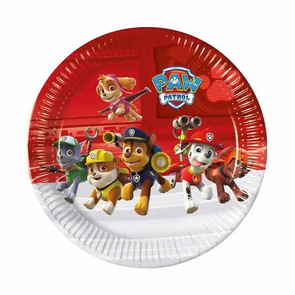 Party tányér, MANCS ŐRJÁRAT/PAW Patro, 8db/cs, 23 cm