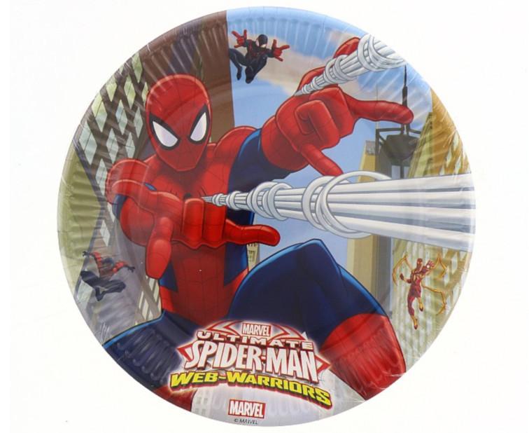 Pókemberes tányér, 23 cm, 8 db/cs