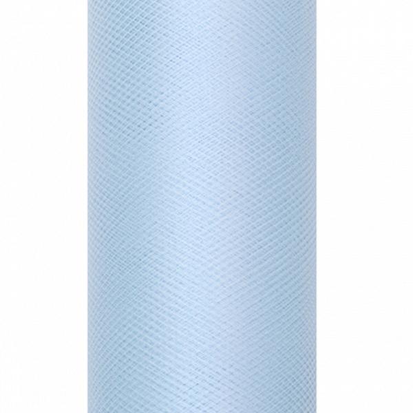 Dekoranyag, tüll, 30CM, 9M, ég kék