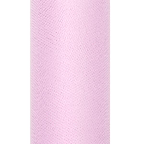 Dekoranyag, tüll, 30CM, 9M, light pink