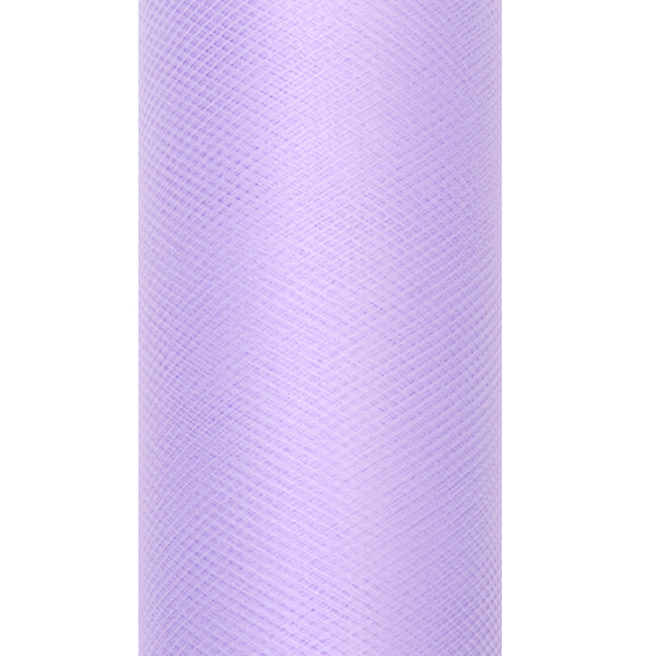 Dekoranyag, tüll, 30CM, 9M, halvány lila