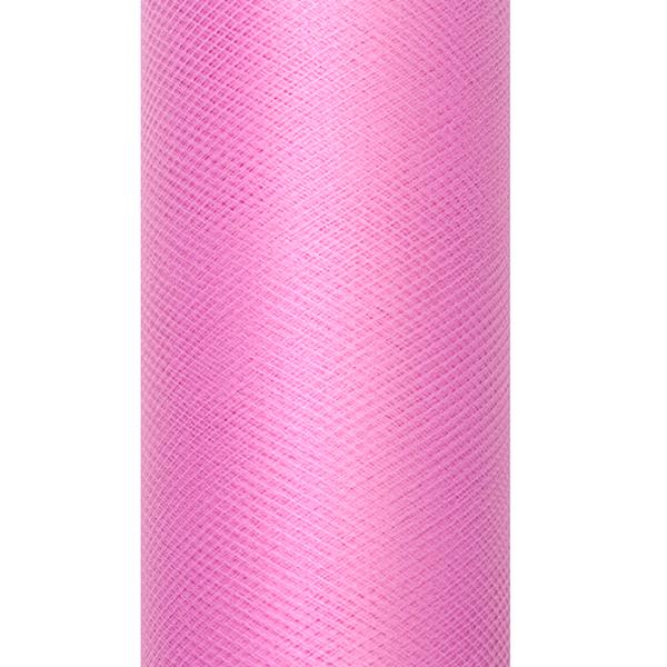 Dekoranyag, tüll, 30CM, 9M, mély rózsaszín