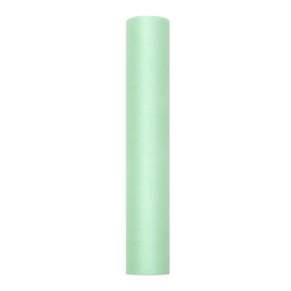 Dekoranyag, tüll, 30CM, 9M,  világos zöld