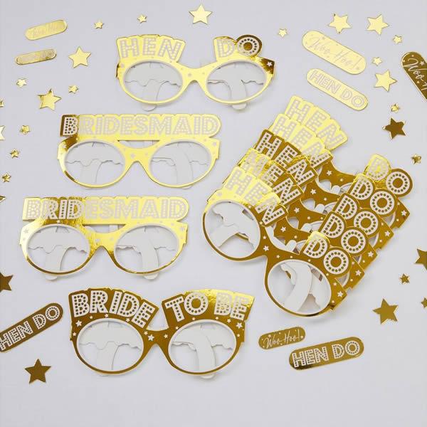 Party szemüveg csomag, WOO HO HEN DO,  9 db/cs