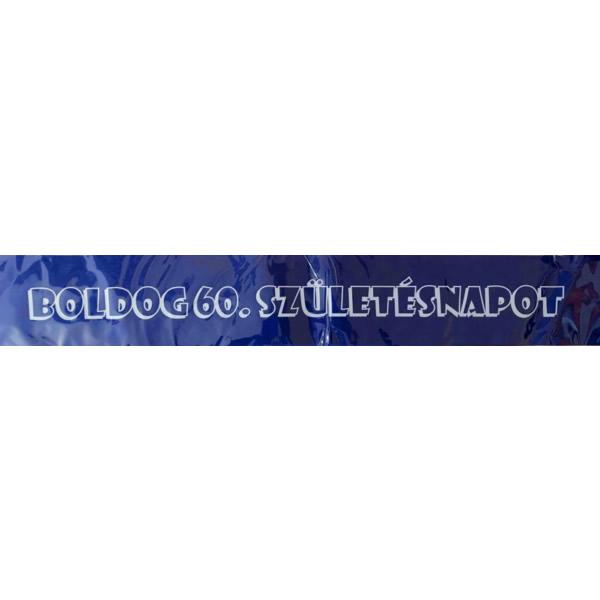 Vállszalag, kék, Boldog 60. születésnapot felirattal