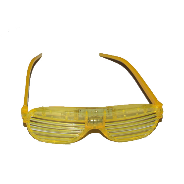 Sárga, party, villogó szemüveg