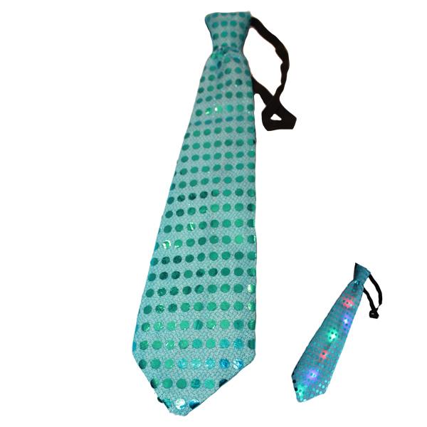 Villogó nyakkendő, világoskék