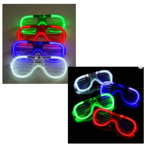 Villogó party szemüveg ledcsíkos, fehér