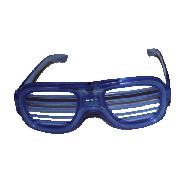Villogó party szemüveg ledcsíkos, kék