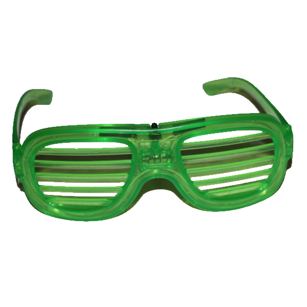 Villogó party szemüveg ledcsíkos, zöld