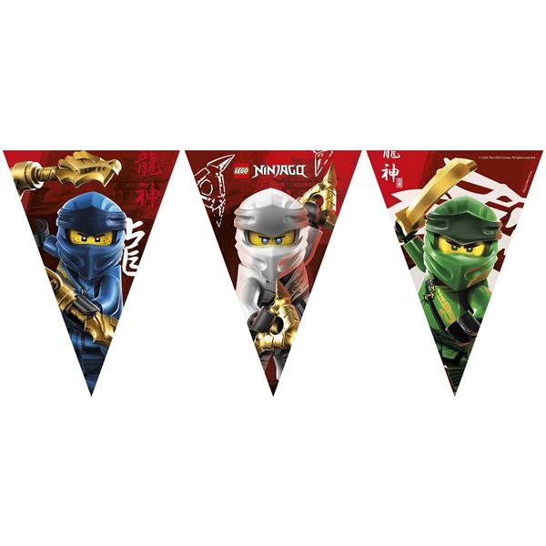 Ninjago zászló fűzér, 9 darabos